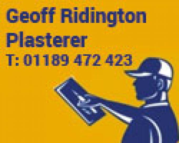 Geoff Ridington Plasterer